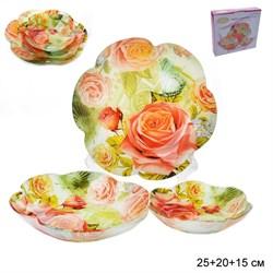 Салатники 3 предмета 25,20,15 см Цветок 1049-Z084А - фото 10059