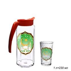 Набор 7 предметов Мечеть (кувшин 1 л+6 стаканов) - фото 10980