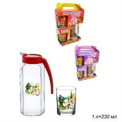 Питьевой набор 3 предмета(кувшин 1 л+2 стакана 312 - фото 10984