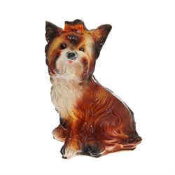 Копилка Собака Чапа с бантом 19х14х33 см - фото 11724