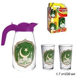 Набор 3 предмета Мечеть (кувшин 1,7 л+2 стакана) - фото 12232