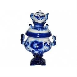 Чайник-сувенир  Самовар гжель /1х55/ 11х11х18 см - фото 13372