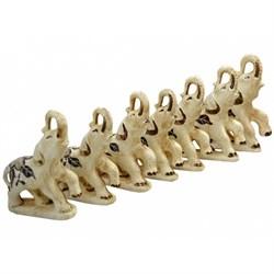 Статуэтки Семь слонов шамот /1х14/ - фото 13380