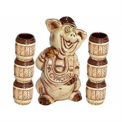 Винный набор Свинка с подковой/1х10/ - фото 13556