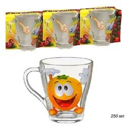 Кружка чайная 1649 /6 шт/ Веселые фрукты 250 мл - фото 13803