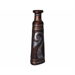 Ваза Квадра медь напольная 16х24х83 см - фото 14730