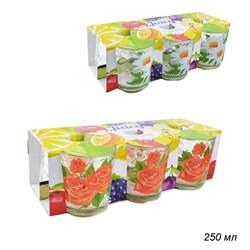 Стакан Цветы низкий 230 мл набор 6 штук - фото 15008
