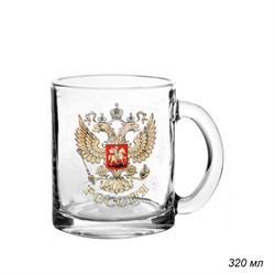 Кружка 1208 Герб России 320 мл в гофре /1х24/ - фото 15563
