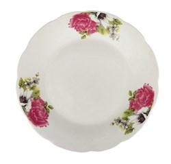 Тарелка №7 арт.211 Розовые цветы/1х8х12/ d=175 мм - фото 16838