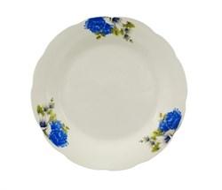 Тарелка №7 арт.212 Синие цветы/1х8х12/ d=175 мм - фото 16840