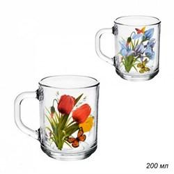 Кружка 1335 Цветы микс 200 мл /1х20/ - фото 16859