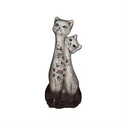 Копилка Коты Близнецы шамот 32 см - фото 16927
