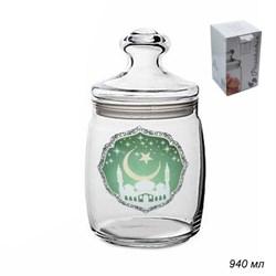 Банка  для сыпучих 0,92 л 97560 Мечеть в подарке - фото 16980