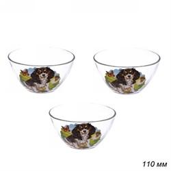 Набор салатников Собаки d=110 мм, h=60 мм 3 штуки - фото 17144