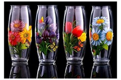 Ваза для цветов Цветы микс h=225, d=80 мм в подар - фото 18913