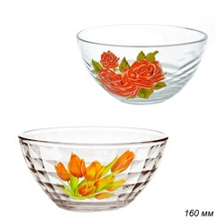 Салатник 1447, 1448 Цветы микс d=160, h=80 мм - фото 20763
