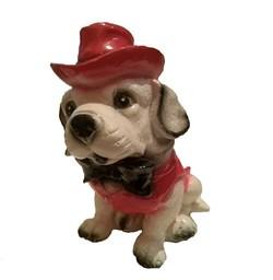 Копилка Собака в шляпе 13х20х23 см - фото 23612