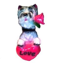 Копилка Собака с сердцем 12х16х24 см - фото 23614