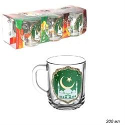 Кружка 1335 Мечеть набор 6 штук в подарке 200 мл - фото 23906
