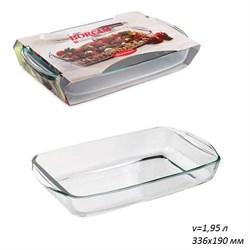 Посуда для СВЧ Borcam 59006 прямоуголная 336х190мм - фото 25056