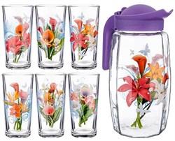 Питьевой набор 7предметов кувшин 1,7 л+6 стакан Ц - фото 25208