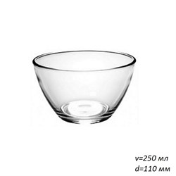Салатник 1322 Гладкий d=110, h=60 мм, v=250 мл - фото 25399