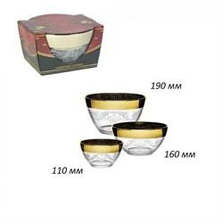 Набор салатников Барокко 3 предмета 110,160,190 мм - фото 26200