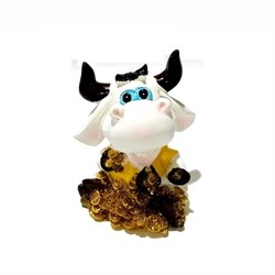 Копилка Корова на деньгах большая 7438 11,5х10х14 - фото 26719