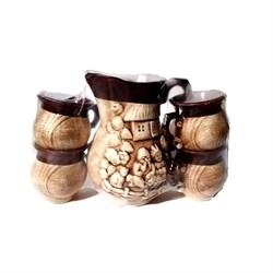 Питьевой набор Украинская лепка 5 предметов /1х6/ - фото 27322