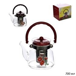 Чайник 700 мл жаропрочное стекло / 9908B4-2(700) - фото 28198