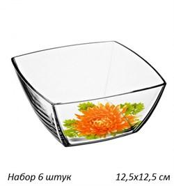 Набор салатников TOKIO 53056 125 мм Деколь 6 штук - фото 28321
