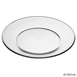 Тарелка десертная 19,6 см Симпатия в гофре /1х36/ - фото 29443