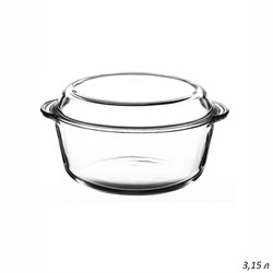 Посуда для СВЧ Borcam 59013 круглая с крыш. 3,15 л - фото 29637