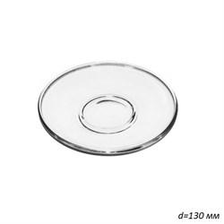 Блюдце стекло 1349 Гламур d=130 мм /1х24/ - фото 30729