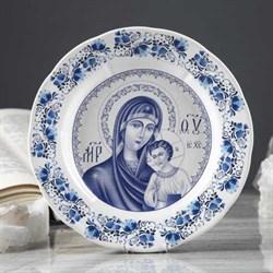 Тарелка Богородица 17,5х17,5х3 см - фото 31970