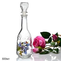 Графин Узор 500 мл Цветы - фото 32406