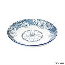 Тарелка Орнамент цветы 225 мм, h=35 мм - фото 35471