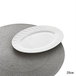 Блюдо овальное 25 см белое/уп.6/36/стеклокерамика - фото 4487