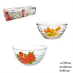 Набор салатников 2 предмета Цветы d=160, h=80 мм - фото 4578