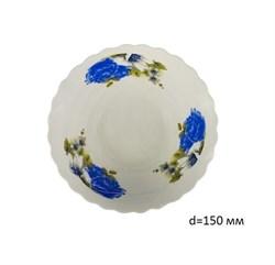 Миска №6 арт.212 Синие цветы/1х8х12/ d=15см фарфор - фото 4624