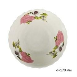 Миска №7 арт.211 Розовые цветы/1х6х12/ d=17 см - фото 4630