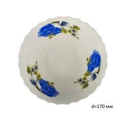 Миска №7 арт.212 Синие цветы/1х6х12/d=17 см - фото 4631