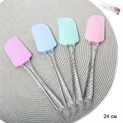 Лопатка силиконовая YH/YH-609/уп 600/ручка пластик - фото 4683