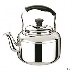 Чайник металлический 1 л нержавеющая сталь/1х48/ - фото 4750