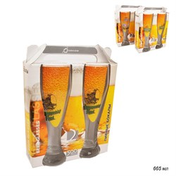 Бокал для пива 42756 665 мл/2 шт/Чемодан деколь - фото 4914