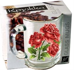 Кружка 1208 320 мл Цветы микс в упаковке - фото 4919