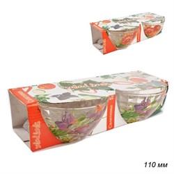 Набор салатников 2 штуки Цветы d=110 мм, h=60 мм - фото 4980