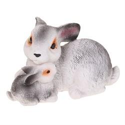 Два кролика маленькие 10х15,5 см - фото 5099