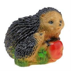 Ежи с яблоком (2 ежа) 19х18х15 см - фото 5119