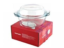 Посуда для СВЧ Borcam 59033 круглая с крышкой 1 л - фото 5323